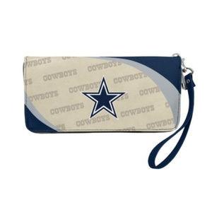 Handbags - Dallas Cowboys NFL Women's Curve Zip Wallet